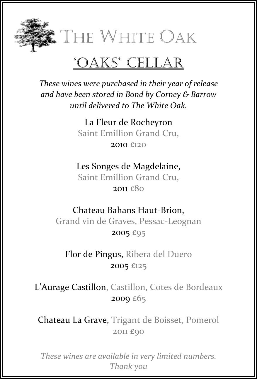 Oaks Cellar list_SPRING18